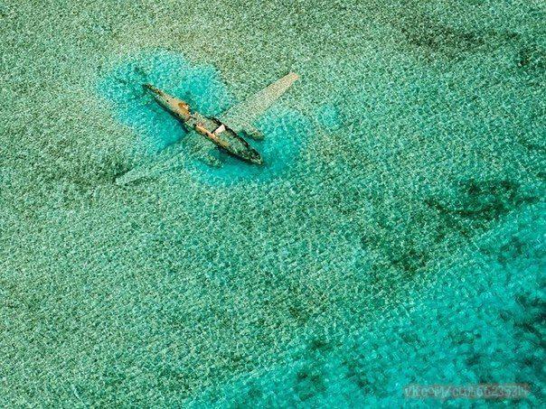 Затонувший самолёт, Багамские острова / The submerged plane, Bahamas
