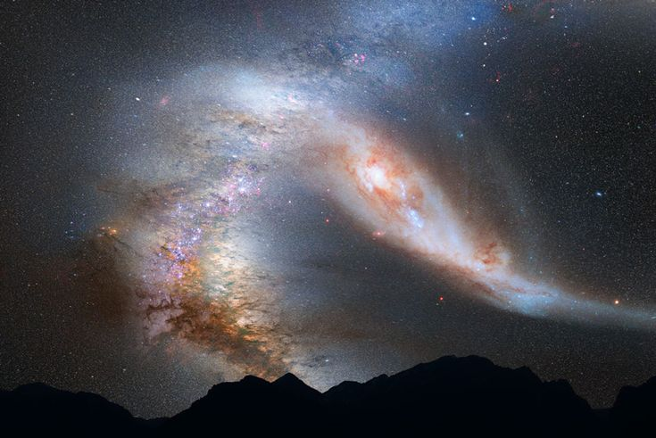 APOD: 2012 June 4 - Milky Way Galaxy Doomed: Collision with Andromeda Pending