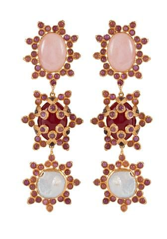 Aemilia Earrings Pink & Pearl