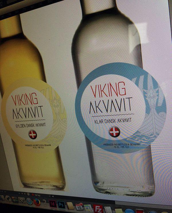 Aquavit Name + labeldesign on Behance
