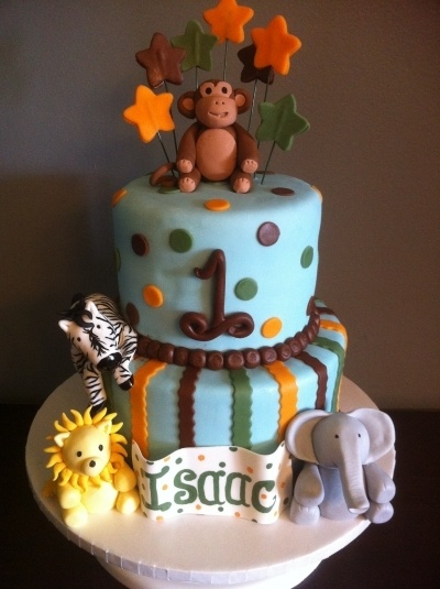 Safari 1st Birthday Cake By MelaMang75 on CakeCentral.com