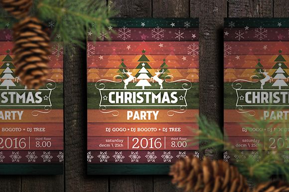 15+ Christmas Party Invitation Flyer Templates