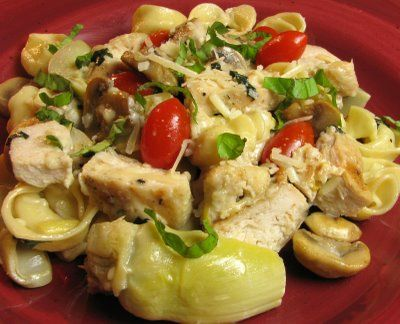Artichoke Hearts with Cheese Tortellini in a Light Lemon Butter Sauce ...