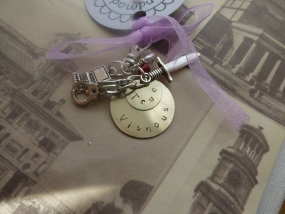 Black dagger brotherhood Vishous inspired keychain by lauriebale, £4.75