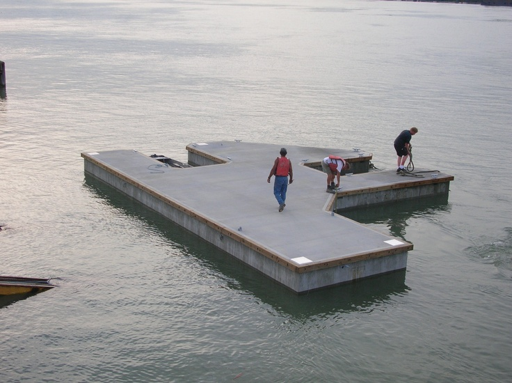Private Dock, Bear Claw shape one piece structural concrete float
