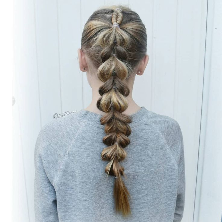 Braids & Hair  by @terttiina Instagram: Small infinity braid into a pull through braid!