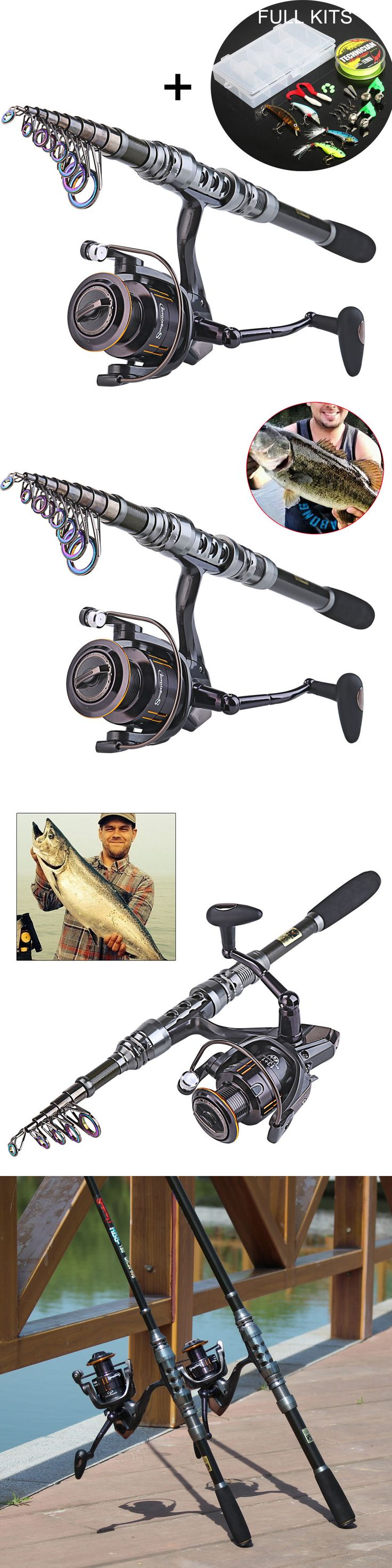 Spincasting Combos 179955: Telescopic Travel Fishing Rod And Fishing Reel Combo Kits 3.0M 9.84Ft+Wq5000 -> BUY IT NOW ONLY: $41.99 on eBay!
