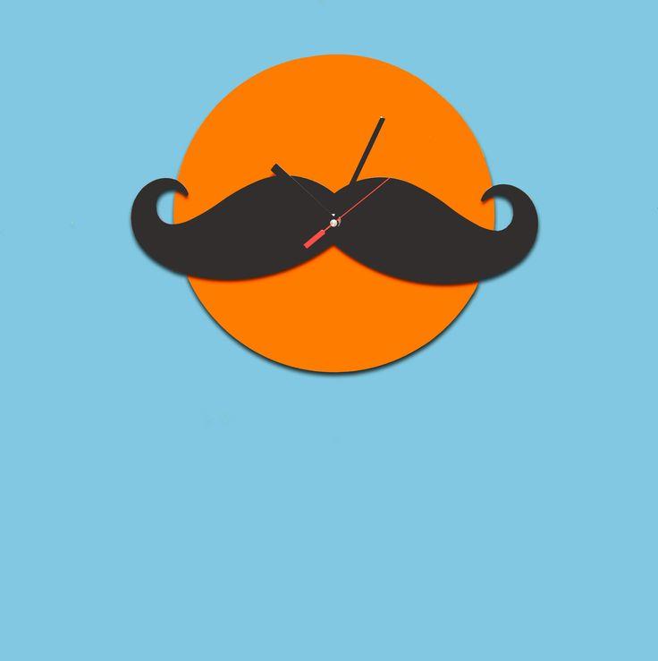 Alberto wall clock  #lamidea #mustache #baffi #wall
