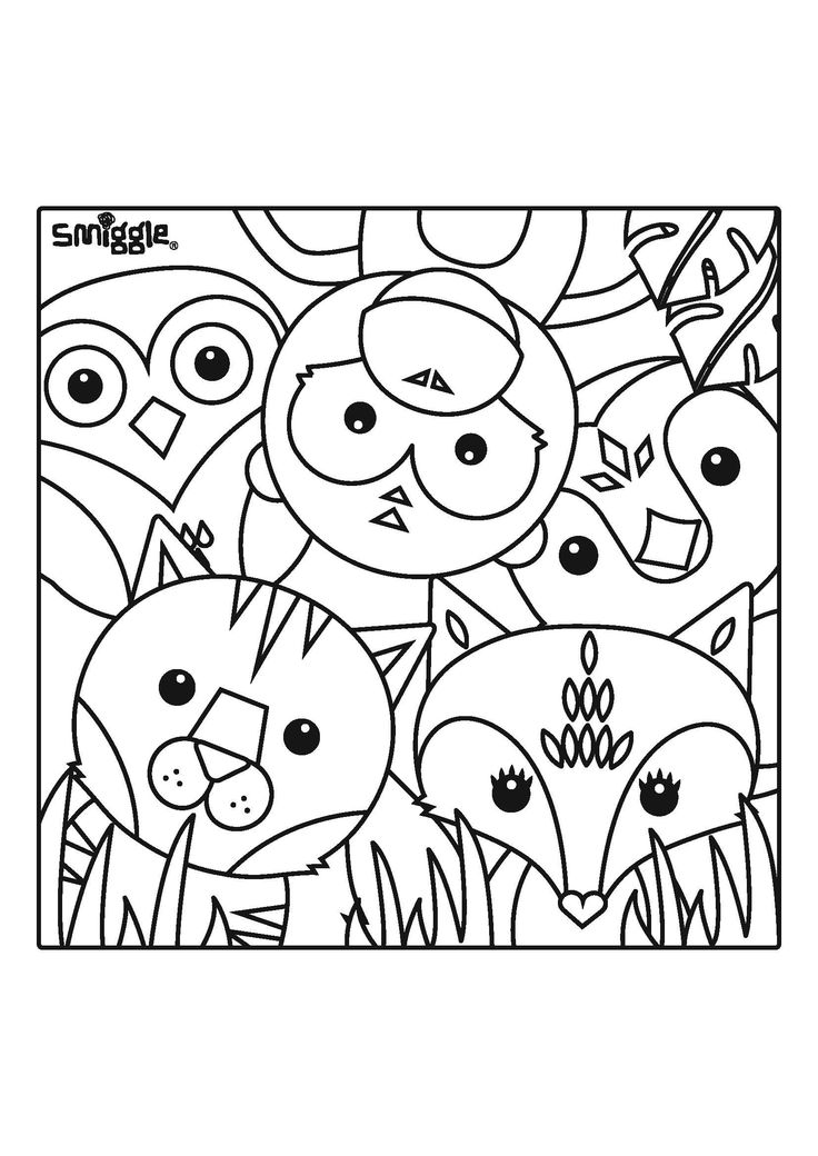 zoo creatures! | colour me in!
