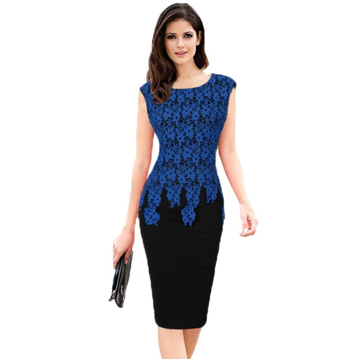 2017 Women Summer Dress Fashion Slim Sleeveless Work Business Office Dress Plus Size 5xl Vintage Stitching Lace Dresses Vestidos