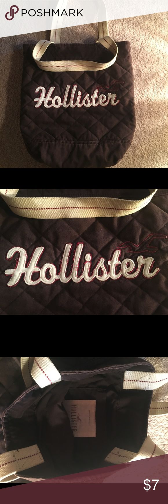 Hollister Tote Bag Cute Hollister Bag. Gently Used. Great for school or shopping. Hollister Bags Totes