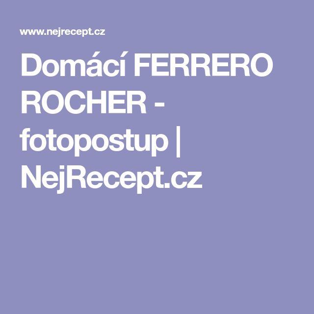 Domácí FERRERO ROCHER - fotopostup   NejRecept.cz