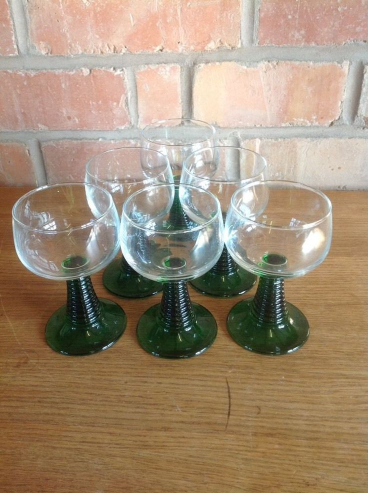 1960s GreenStem Wine Glasses - Vintage Tweaks Ebay Store