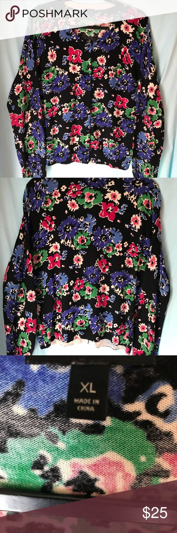 Talbots XL Multi colored Cardigan. Talbots multi colored cardigan. Size XL . Excellent Condition. Talbots Sweaters Cardigans