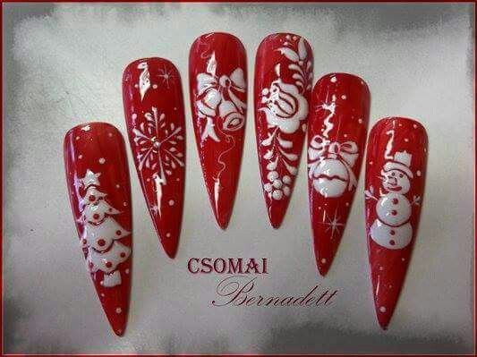 Piros kari  Simply red n white and the addition of a little BLING and this would be splendid for Christmas!!