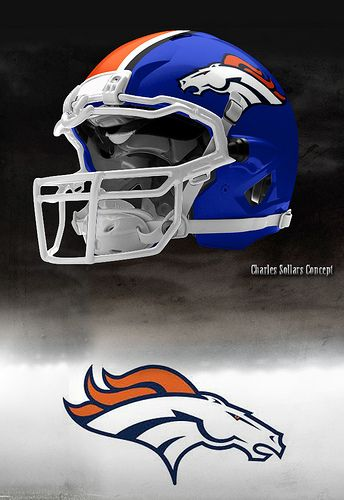 Denver Broncos awesome alternate idea! Blends the much better current emblem with their classic colors.