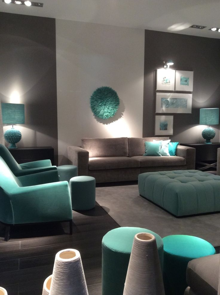 Estancias con colores de tendencia como el turquesa  decolivingrooms