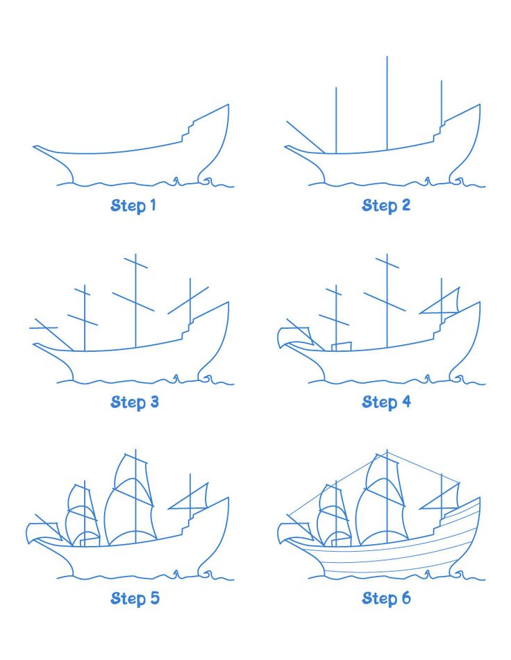 Mayflower ship drawing lesson