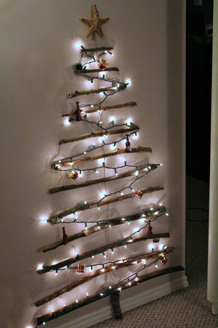 christmas tree on wall out of lights - Google Search