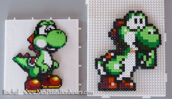 sandylandya@outlook.es Yoshi hama mini and midi perler by Rachel