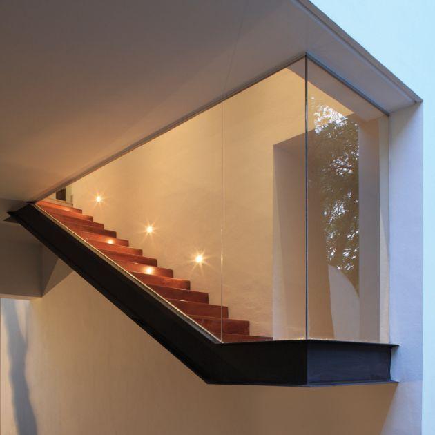 Cristal + Color + Viga + Escalera