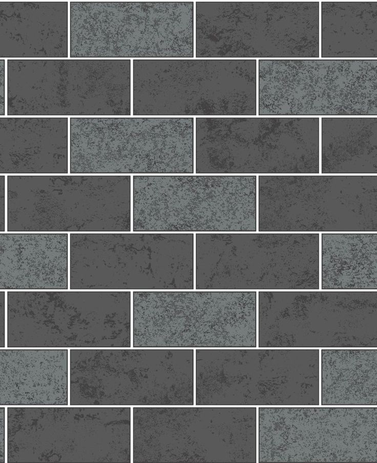 Fine Decor Wallpaper | Ceramica Glitter Brick Black | FD41462