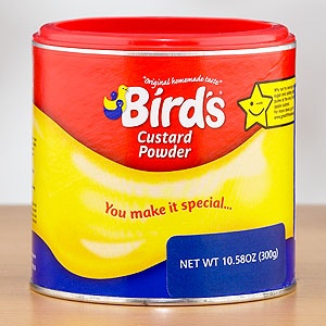 Bird's Custard Powder - an English classic - just got some and can't wait to make Custard Creams with it! I feel very British right now. . .