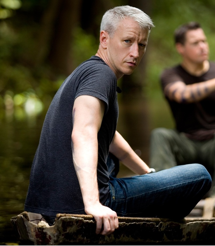 Anderson Cooper, why is it men can pull off the gray hair?! He's a silver fix. Women with gray just look old!