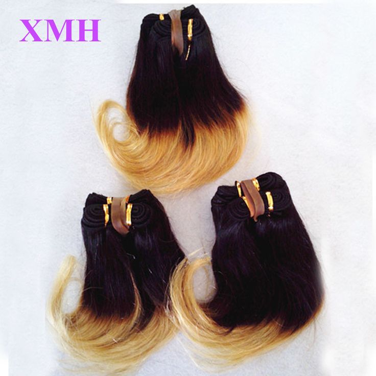 """Ombre Brazilian Virgin Hair Body Wave 3pcs Lot 6"""" 8""""inches Short Wavy Weave 1B 27 Two Tone Human Hair Extensions for Black Women"""