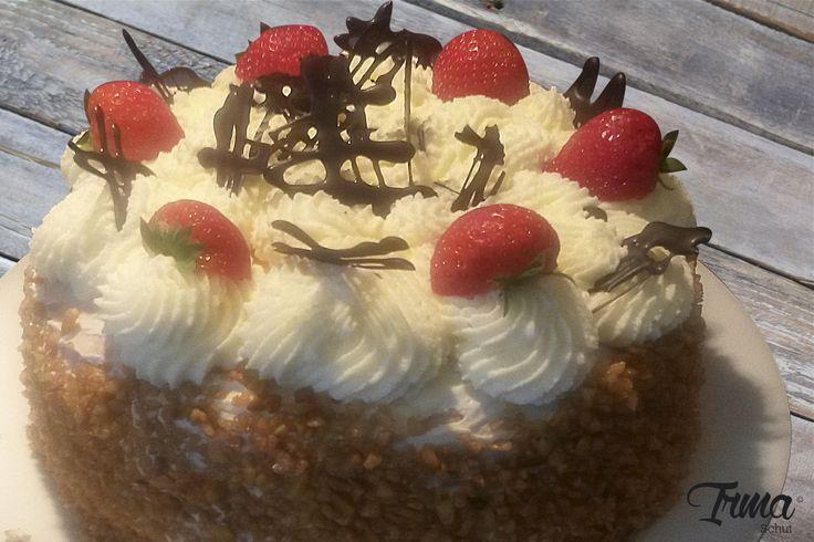 Zelfgemaakte aardbeientaart! mmmm