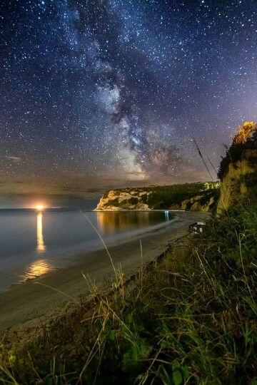 Whitecliff Bay under the stars -Isle of Wight