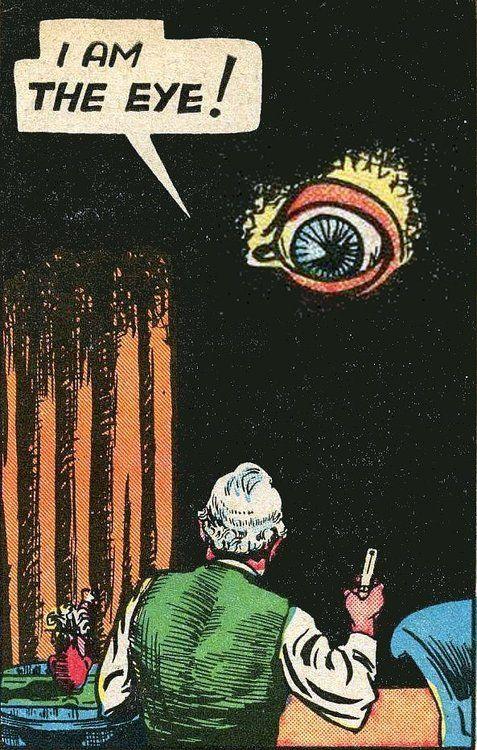 "Early weird ""superhero"" from Centaur Comics, The Eye."