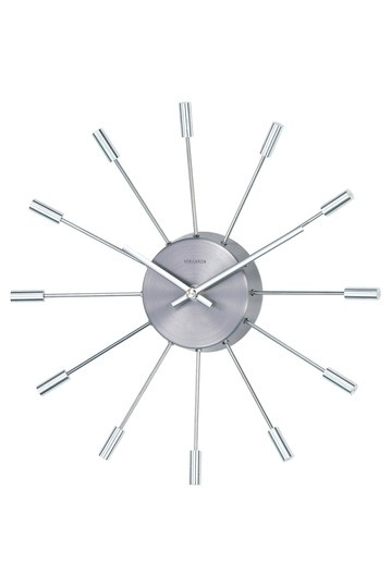 George Nelson Pill Clock - Silver by Mid-Century Furniture Classics on @HauteLook