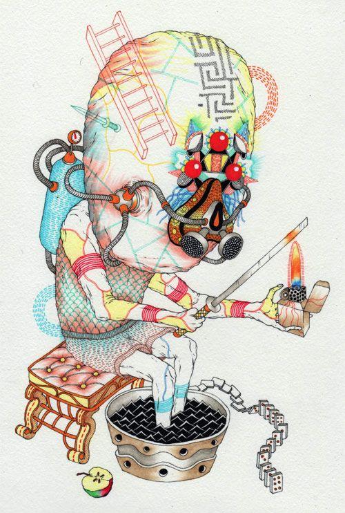 Drawings by Eugene Plotnikov