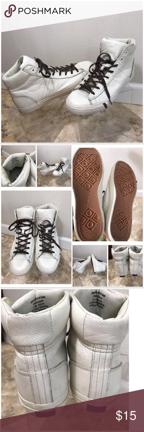 Pro keds men's sneakers size 12 white leather Prokeds men's shoes size 12 white leather hightops prokeds Shoes Athletic Shoes