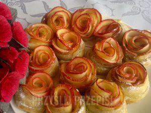 Różyczki z jabłek w cieście francuskim