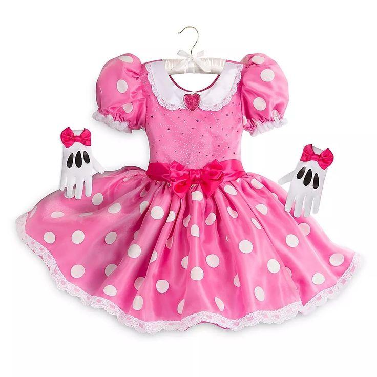 vestido para niñas minie rosa disfraz original disney