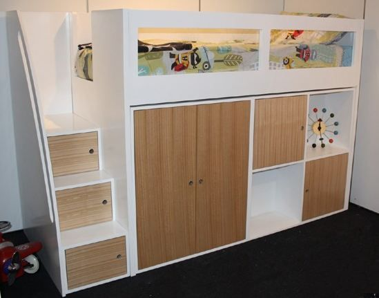 Kids Space Saver Loft Bed Frame