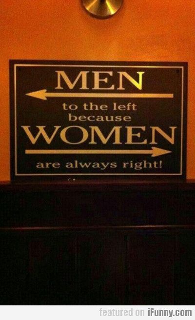 Men => to the left ;-)