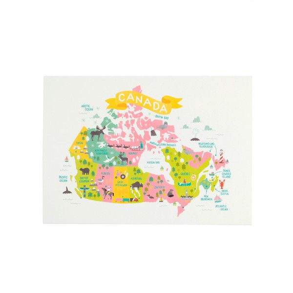 Map of Canada Postcard by Jacqui Lee for LBC