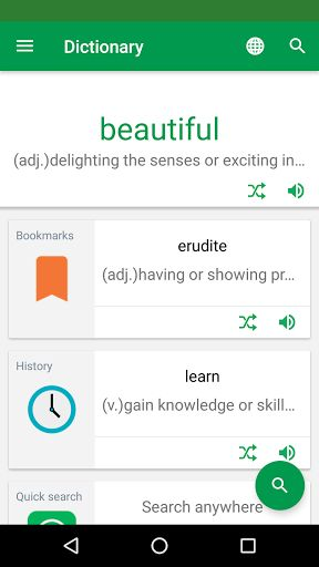 Erudite Dictionary Translator & Widget v9.6.1 [Unlocked]   Erudite Dictionary Translator & Widget v9.6.1 [Unlocked]Requirements:4.2 and upOverview:Erudite is the best language learning app which combines bilingual dictionaries translator flashcards phrasebook and widget.  If you want to learn English Spanish French German Italian Portuguese Dutch Greek Russian Chinese Japanese Korean Indonesian Turkish Arabic and Hebrew the most effective way there's no better choice than Erudite!  The…