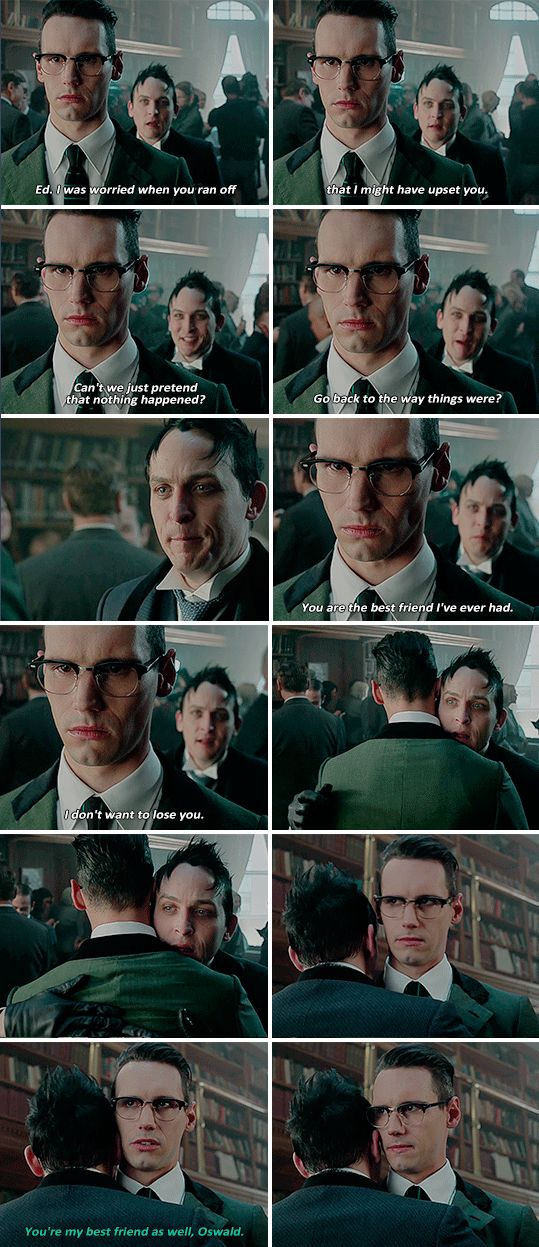 """""""Can't we just pretend that nothing happened?"""" - Oswald and Ed #Gotham"""