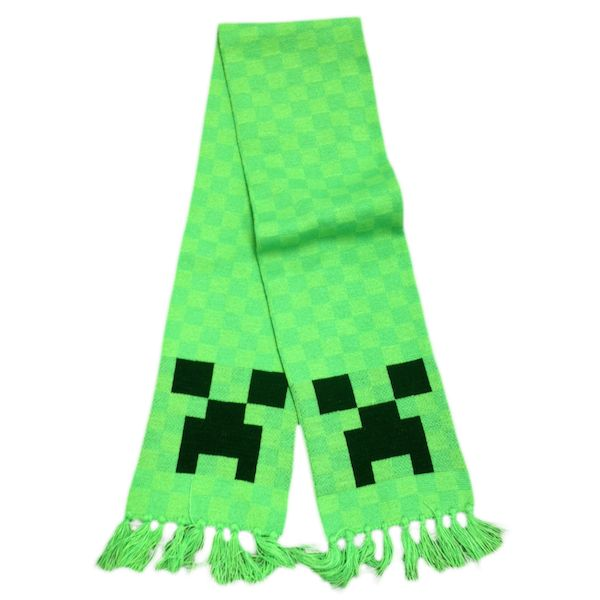 Minecraft halstørklæde med creeper motiv