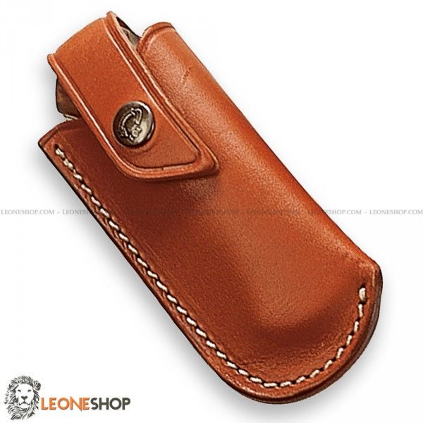 """Sheath for Knives FOX Italy, bags, cases and sheaths in Leather to take with you your folding knife - Lenght 4.7"""" - FOX Italy Leather sheath for knives really exceptional with quality materials, superior quality in all components, with strap closure and belt loop ."""