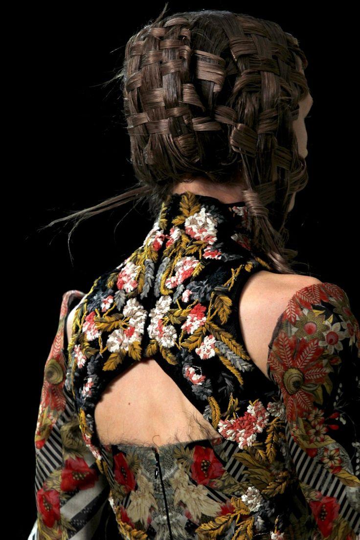beautiful stitchery... Alexander McQueen.