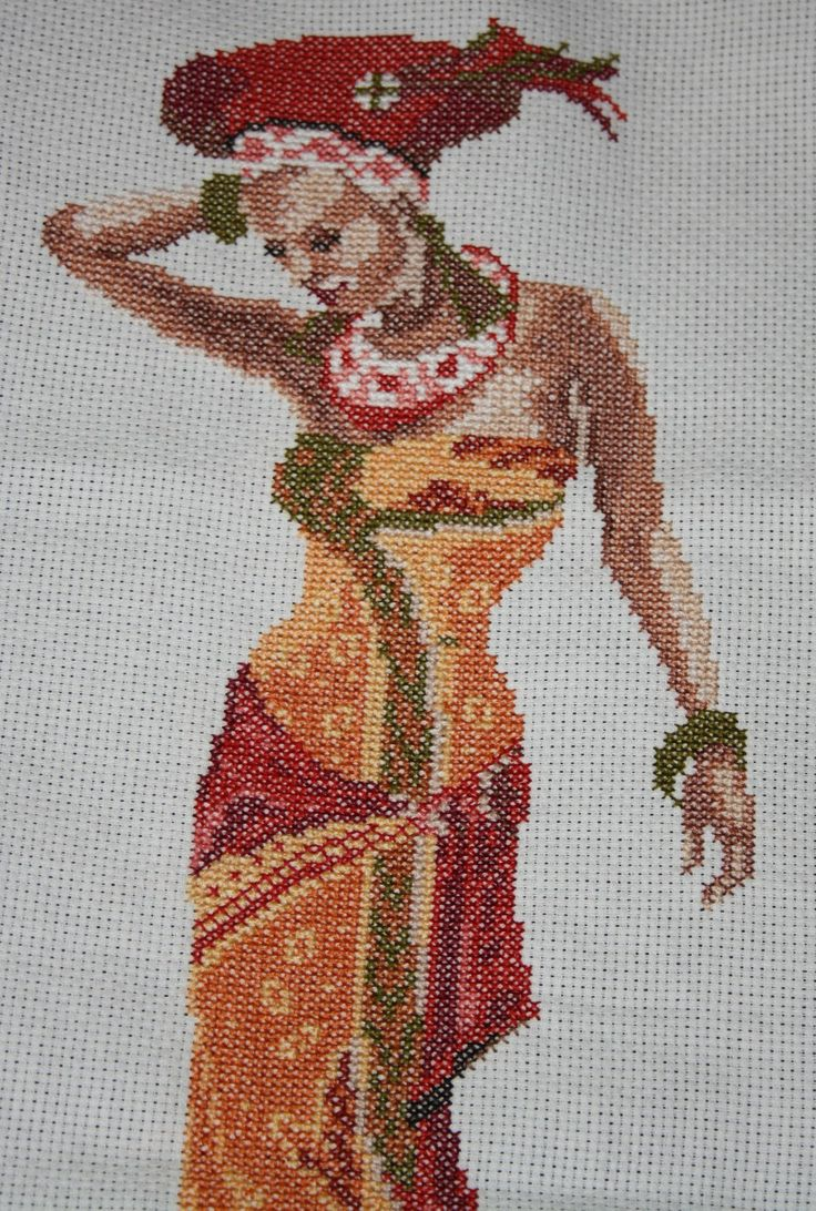 point de croix femme africaine - cross stitch african woman