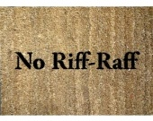 No Riff Raff Fawlty Towers doormat