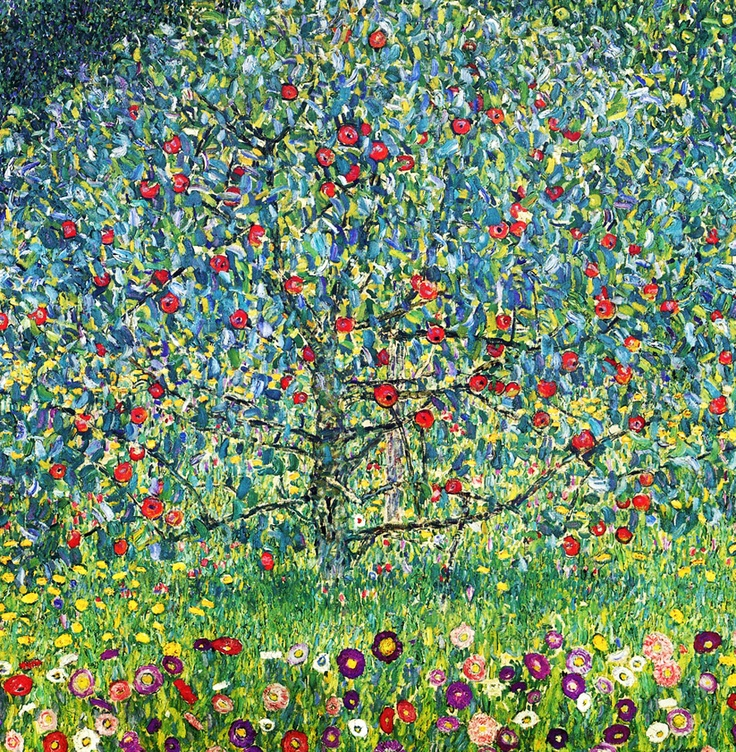Apple Tree, by Gustav Klimt.   Ovvero: arrivare a 36 anni suonati e scoprire quadri di Klimt bellissimi di cui ignoravi l'esistenza solo perché i libri di storia dell'arte riportano sempre e solo Baci e Alberi della Vita.
