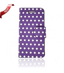 iPhone 5 Cases : Flip Wallet Poker Dot Purple