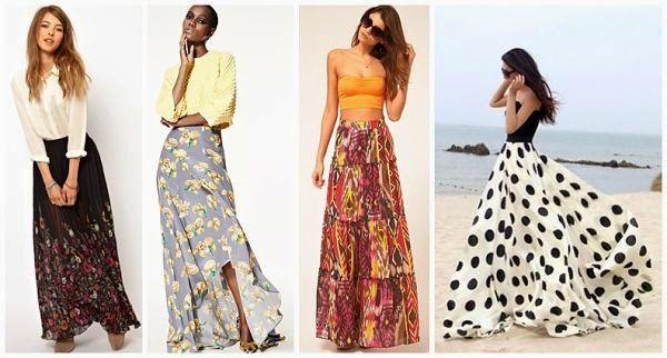 falda larga de moda con estampados - Buscar con Google